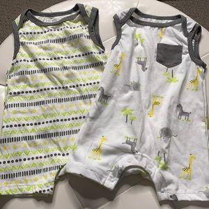 Infant Summer Sleeveless onesie Set of 2
